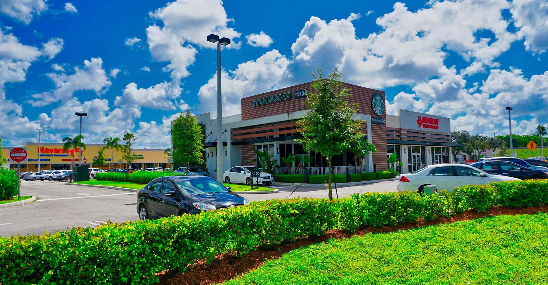 retail shopping plaza lawn care